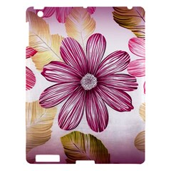 Flower Print Fabric Pattern Texture Apple Ipad 3/4 Hardshell Case