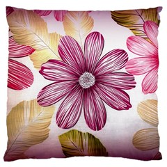 Flower Print Fabric Pattern Texture Large Cushion Case (one Side)