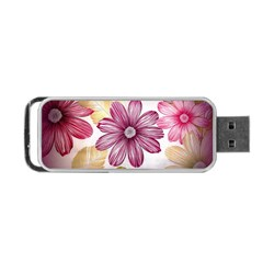 Flower Print Fabric Pattern Texture Portable USB Flash (Two Sides)