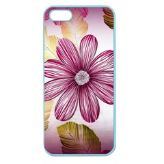 Flower Print Fabric Pattern Texture Apple Seamless Iphone 5 Case (color)