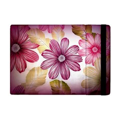 Flower Print Fabric Pattern Texture Apple Ipad Mini Flip Case