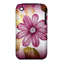 Flower Print Fabric Pattern Texture iPhone 3S/3GS