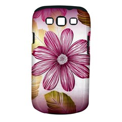 Flower Print Fabric Pattern Texture Samsung Galaxy S III Classic Hardshell Case (PC+Silicone)