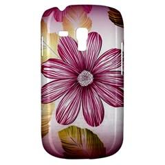 Flower Print Fabric Pattern Texture Galaxy S3 Mini