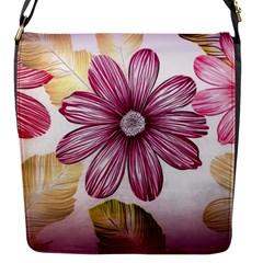 Flower Print Fabric Pattern Texture Flap Messenger Bag (s)