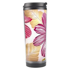 Flower Print Fabric Pattern Texture Travel Tumbler