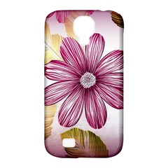 Flower Print Fabric Pattern Texture Samsung Galaxy S4 Classic Hardshell Case (pc+silicone)