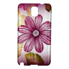 Flower Print Fabric Pattern Texture Samsung Galaxy Note 3 N9005 Hardshell Case