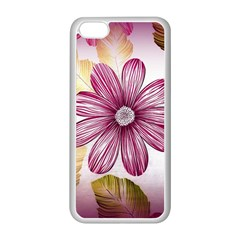 Flower Print Fabric Pattern Texture Apple Iphone 5c Seamless Case (white)