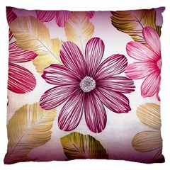 Flower Print Fabric Pattern Texture Standard Flano Cushion Case (two Sides)