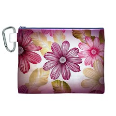Flower Print Fabric Pattern Texture Canvas Cosmetic Bag (XL)