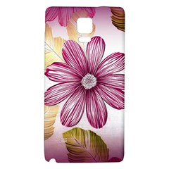 Flower Print Fabric Pattern Texture Galaxy Note 4 Back Case