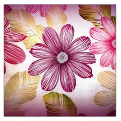 Flower Print Fabric Pattern Texture Large Satin Scarf (square)