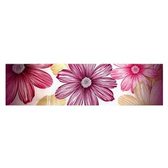 Flower Print Fabric Pattern Texture Satin Scarf (Oblong)