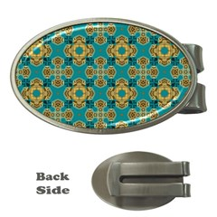 Vintage Pattern Unique Elegant Money Clips (oval)
