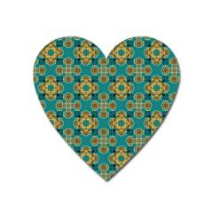 Vintage Pattern Unique Elegant Heart Magnet
