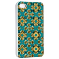 Vintage Pattern Unique Elegant Apple Iphone 4/4s Seamless Case (white)