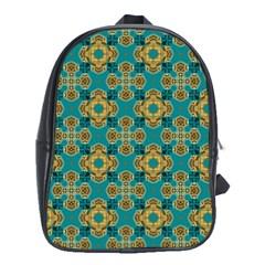 Vintage Pattern Unique Elegant School Bags (xl)