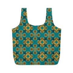 Vintage Pattern Unique Elegant Full Print Recycle Bags (M)