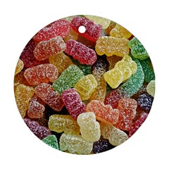 Jelly Beans Candy Sour Sweet Ornament (Round)