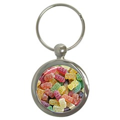 Jelly Beans Candy Sour Sweet Key Chains (round)