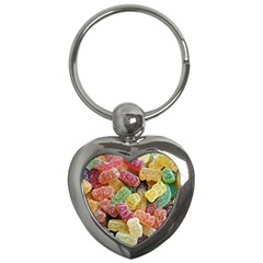 Jelly Beans Candy Sour Sweet Key Chains (Heart)
