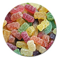 Jelly Beans Candy Sour Sweet Magnet 5  (Round)