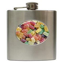 Jelly Beans Candy Sour Sweet Hip Flask (6 Oz)