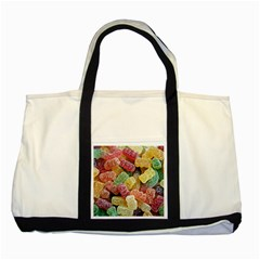 Jelly Beans Candy Sour Sweet Two Tone Tote Bag