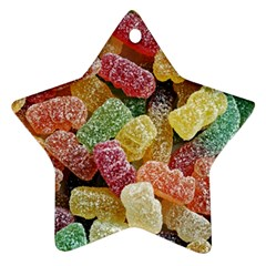Jelly Beans Candy Sour Sweet Star Ornament (Two Sides)