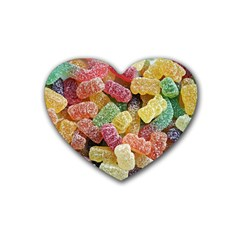 Jelly Beans Candy Sour Sweet Rubber Coaster (Heart)