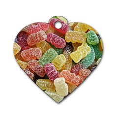 Jelly Beans Candy Sour Sweet Dog Tag Heart (two Sides)