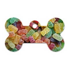 Jelly Beans Candy Sour Sweet Dog Tag Bone (one Side)