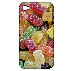 Jelly Beans Candy Sour Sweet Apple Iphone 4/4s Hardshell Case (pc+silicone)