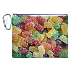 Jelly Beans Candy Sour Sweet Canvas Cosmetic Bag (xxl)