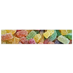 Jelly Beans Candy Sour Sweet Flano Scarf (small)