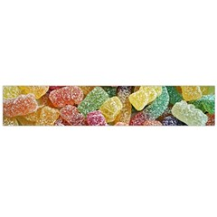 Jelly Beans Candy Sour Sweet Flano Scarf (large)