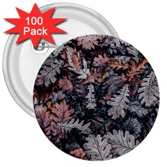Leaf Leaves Autumn Fall Brown 3  Buttons (100 pack)