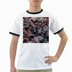 Leaf Leaves Autumn Fall Brown Ringer T-Shirts