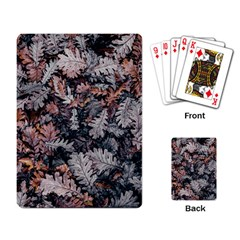 Leaf Leaves Autumn Fall Brown Playing Card
