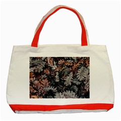 Leaf Leaves Autumn Fall Brown Classic Tote Bag (red)
