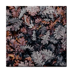 Leaf Leaves Autumn Fall Brown Face Towel