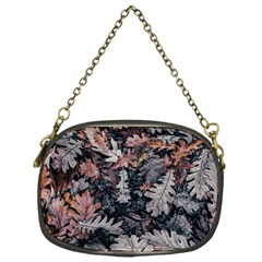 Leaf Leaves Autumn Fall Brown Chain Purses (one Side)
