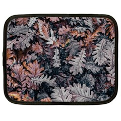 Leaf Leaves Autumn Fall Brown Netbook Case (XXL)