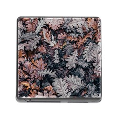 Leaf Leaves Autumn Fall Brown Memory Card Reader (square)