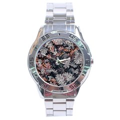 Leaf Leaves Autumn Fall Brown Stainless Steel Analogue Watch