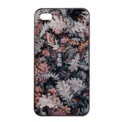 Leaf Leaves Autumn Fall Brown Apple iPhone 4/4s Seamless Case (Black)