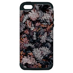 Leaf Leaves Autumn Fall Brown Apple Iphone 5 Hardshell Case (pc+silicone)