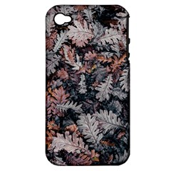 Leaf Leaves Autumn Fall Brown Apple iPhone 4/4S Hardshell Case (PC+Silicone)