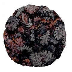Leaf Leaves Autumn Fall Brown Large 18  Premium Round Cushions